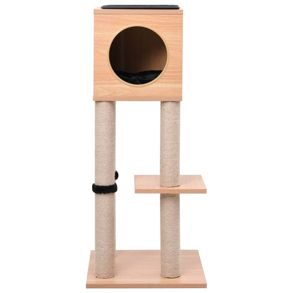 <font><b>Pet</b></font> <font><b>Cat</b></font> <font><b>Tree</b></font> <font><b>Tower</b></font> Condo Wood Scratcher with Scratching Post for <font><b>Cats</b></font> Climbing <font><b>Tree</b></font> Toys Protecting Furniture Jumping Toy Nest image