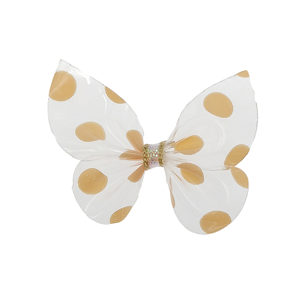 20pcs lot Fashion Speck Bowknot Hair Clip Transparent 3 8cm Bows Hair For Girls Hairpins Headband NO CLIPS DIY Accessories B185 in DIY Craft Supplies from Home Garden