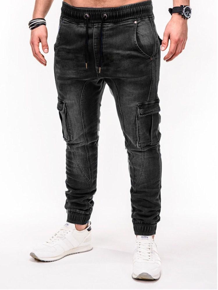 2020 Mens Cool Designer Brand Black Jeans Skinny Zipper More Pocket Jeans Men's Jeans Smart Casual Jeans Cargo Pants