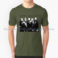 Roxy Music-Camiseta divertida de verano para hombres y mujeres, camisa con música de Roxy,