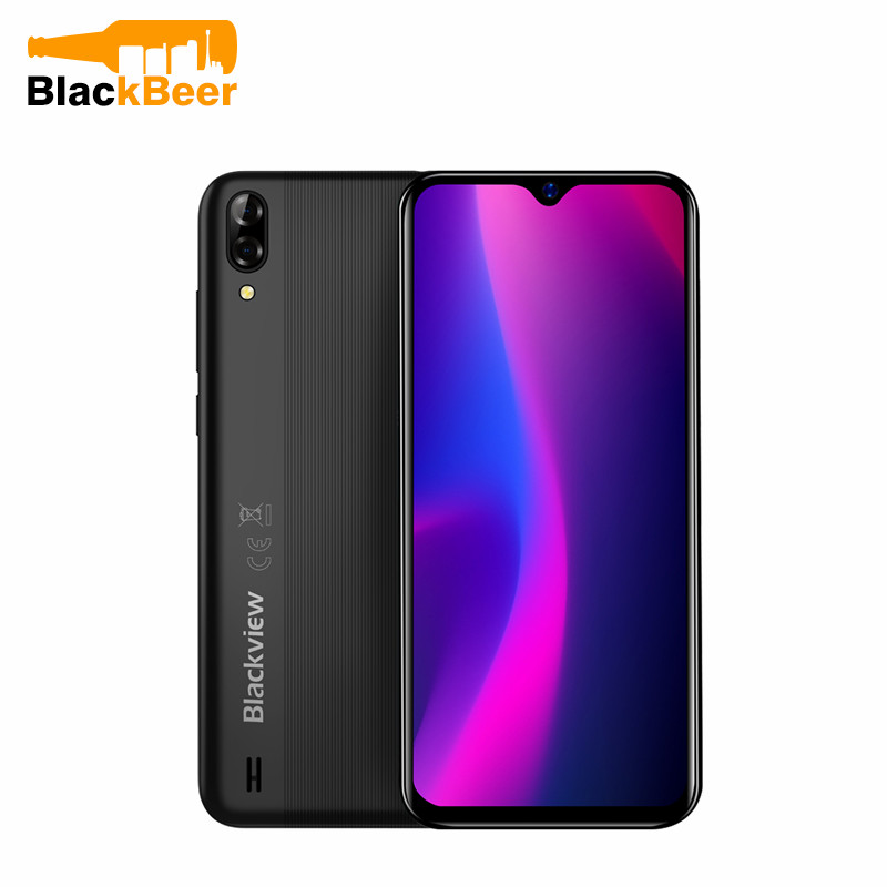 Blackview A60 3G Telefone Móvel Android 8.1 do Smartphone Quad Núcleo 4080mAh Celular 1GB + 16GB 6.1 polegada 19.2: 9 Dual Screen Camera