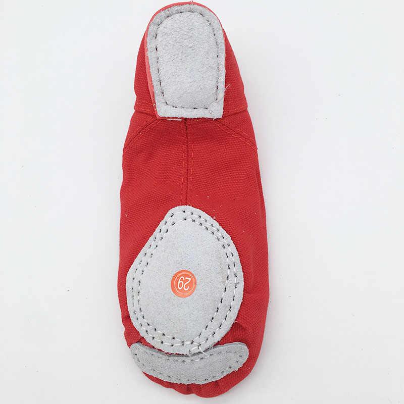 Sapatos de lona macia para meninas, calçados de dança de jazz e lona para crianças e mulheres