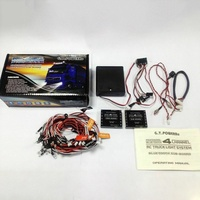GT Power-sistema de iluminación LED profesional para coche y camión teledirigido, 4 canales, Bluetooth, incluye 14 tipos de modos de parpadeo