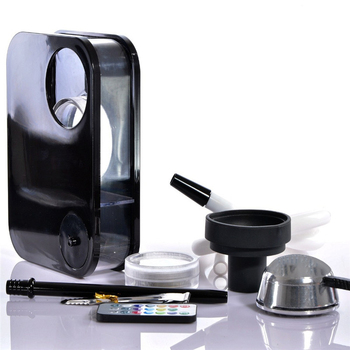 Shisha Hookah Set With LED Light Nargile Sheesha Narguile Chicha Cachimbas Hookah for Smoking кальян
