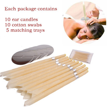 10pcs Ear Candles Wax Clean Removal Natural Beeswax Propolis Indiana Therapy Fragrance Candling Cone Candle Relaxation - discount item  5% OFF Health Care