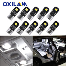 OXILAM 10x W5W LED Canbus T10 Car Led Bulb for Nissan X Trail T31 T30 Note Leaf Almera N16 Auto Led Interior Light Reading Lamp