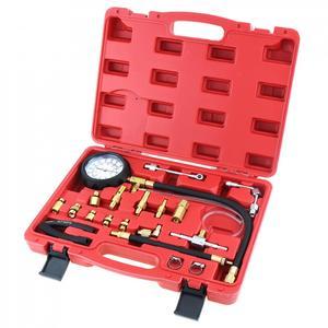 Image 4 - TU 114 0 140PSI / 0 10 Bar Tragbare Compression Kraftstoff Injektion Druck Auto Auto Diagnose Tester Tools Kit mit Sicherheit ventil