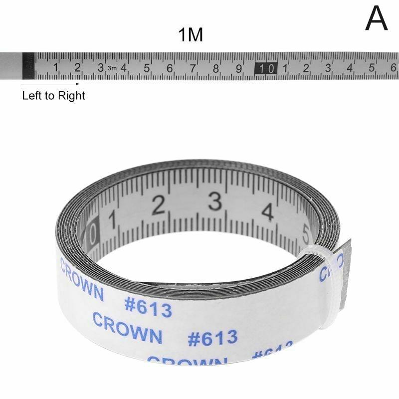 TABLE STICKER MEASUREING ADHESIVE TAPE RULER PLASTIC READ IN METRIC