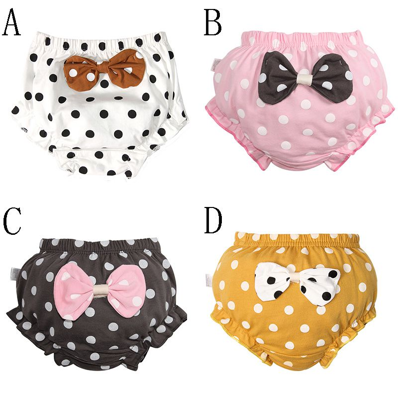 Baby Cute Diapers Reusable Nappies Cloth Diaper Washable Infants Children Baby Cotton Training Pants Panties Nappy 0-4Y