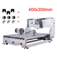 CNC frame 3040 4axis diy kit for cnc engraving milling machine cnc router ball screw Mach3 controller with Nema23 stepper motors