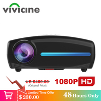Vivicine S2 Newest 1080p Projector,Option Android 9.0 HDMI USB PC 1920x1080 Full HD LED Home Theater Video Projector Proyector