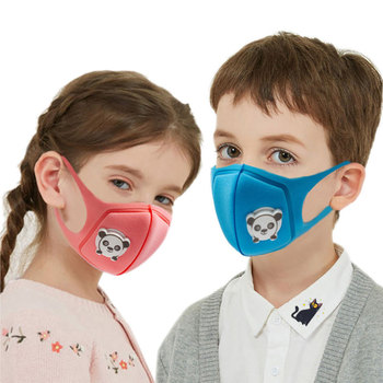 In Stock 5PCS Face Mouth Masks For Children Dust-proof Breathable Washable Earhook Masks With Valve Facial Mask Outdoor TSLM1 1