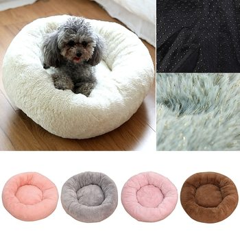 Super Soft Dog Bed House Dog Round Kennel Plush Pet Product Accessories Cat Dogs Washable Beds For Large Cats Mat image