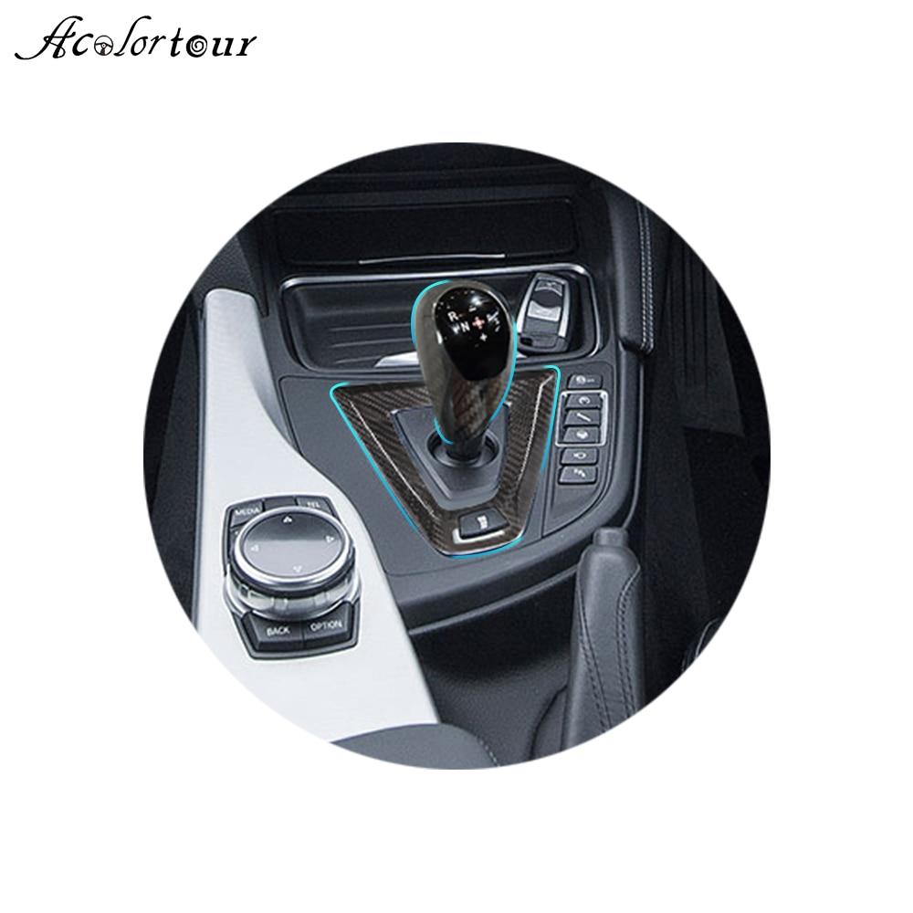carbon fiber gear shift lever sticker and panel trim M-sport style for BMW M2 F87 M3 F80 M4 F82 F83 M5 M6 F10 F12 X5M X6M