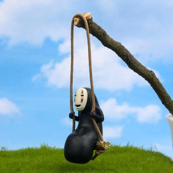 Cute Anime No Face Man Action Figure Model DIY Gardening Landscape Doll Toy Car Pendant For Kids Birthday Gifts