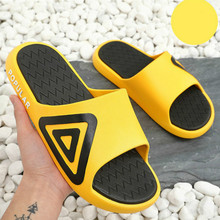 WEH Men Slippers EVA Non-slip Outdoor Beach Flip Flops Summer Shoes Man Women Slides yellow Sandal Calzado Mujer shower shoes
