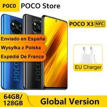 POCO X3 – Smartphone 6 go 64 go/128 go, Version globale, NFC, Snapdragon 732G Octa Core, 6.67 pouces, Pocophone, Quad caméra 64mp, 5160mAh