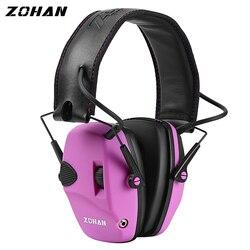 ZOHAN protección electrónica para la oreja nmr22db amplificación de sonido reducción de ruido orejeras defensor profesional de la caza de orejas