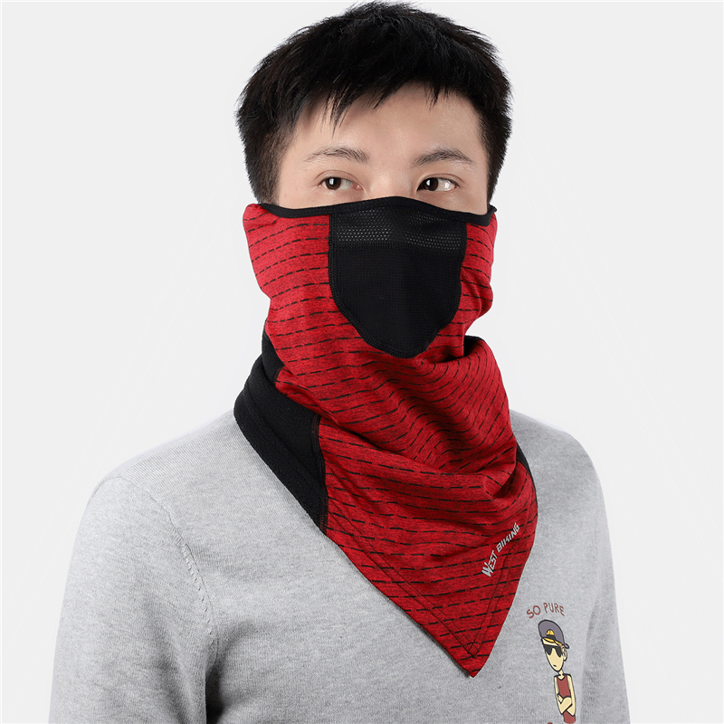 H58530815aa564ef090c5c479b83034569 WEST BIKING Winter Cycling Mask Fleece Thermal Outdoor Sports Facemask Bandana Headband Anti-UV Running Training Ski Face Mask