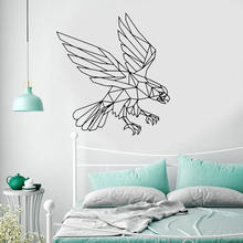 Геометрическая Наклейка на стену с изображением орла животных