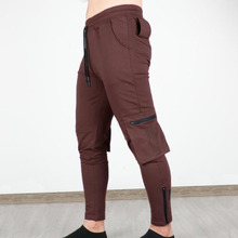 Wysokiej jakości spodnie sportowe męskie czarne spodnie dresowe spodnie do biegania spodnie Fitness spodnie do biegania spodnie Cargo Trackpants tanie tanio ASRV TECHNICAL SPORTSWEAR Wiosna i jesień CN (pochodzenie) inny COTTON CASUAL W stylu safari Mieszkanie NONE REGULAR 28 - 32