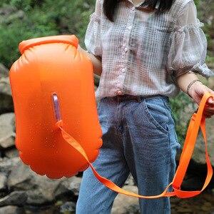Boya de agua inflable de seguridad para nadar, salvavidas deportivo con cinturón para nadar, surf, bolsa de deriva que ahorra vida, 1 Uds.