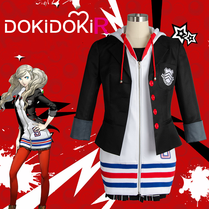 DokiDoki-R Game Persona 5 Cosplay Anne Takamaki Costume Women Persona 5 Cosplay Costume Panther Anne Takamaki 2
