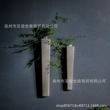 Nordic Japanese Style Water Concrete Wall Hangers Wall Flower Container Vase Grow in Water Living Room Wall Hangers Decoration