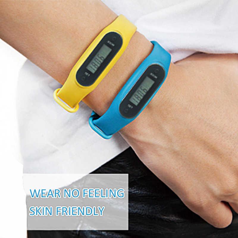 フィットネス腕時計ブレスレットディスプレイフィットネス歩数計ゲージステップデジタル Lcd 歩数計ランステップ歩数計