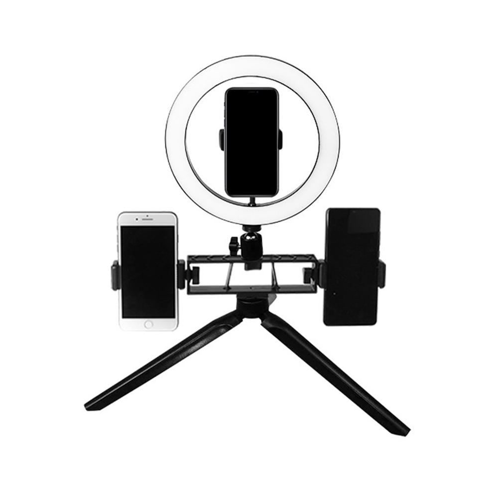 USB Dimmable LED Selfie Ring Light Makeup Vanity Mirror Lamp Live Stream Phone Clip Holder Adjustable Desk Lamp Makeup Light|Vanity Lights| |  - title=