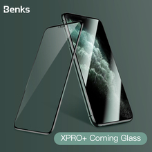 Protetor de tela de vidro temperado para iphone, benks corning hd 3d xpro cobertura completa para iphone x xs 11 pro max xr 9h dureza protetora