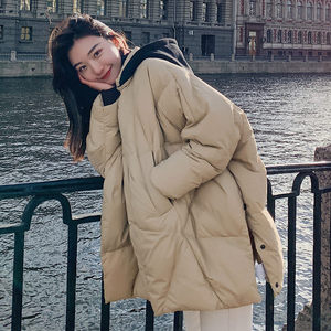 Отстегивающаяся зимняя куртка с капюшоном, парки для женщин, плюс размер, свободное плотное теплое пальто, женская повседневная куртка с хл...