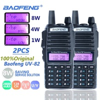 vhf uhf 2pcs Baofeng UV82 מכשיר הקשר 8W UHF & VHF כפול PTT Ham Radio אמאדור UV 82 ציד רדיו תחנת UV82 שני הדרך רדיו Comunicador (1)