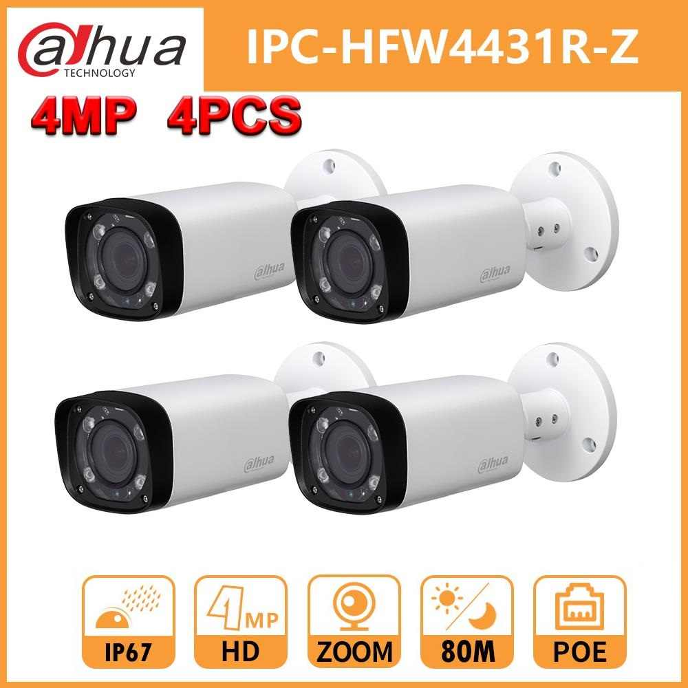 Dahua IPC-HFW4431R-Z 4MP Ip Camera 2.7-12 Mm Vf Lens Zoom Ip Camera Ir 60 M Bereik Wdr Met russische Spainish Camera 4 Stks/partij