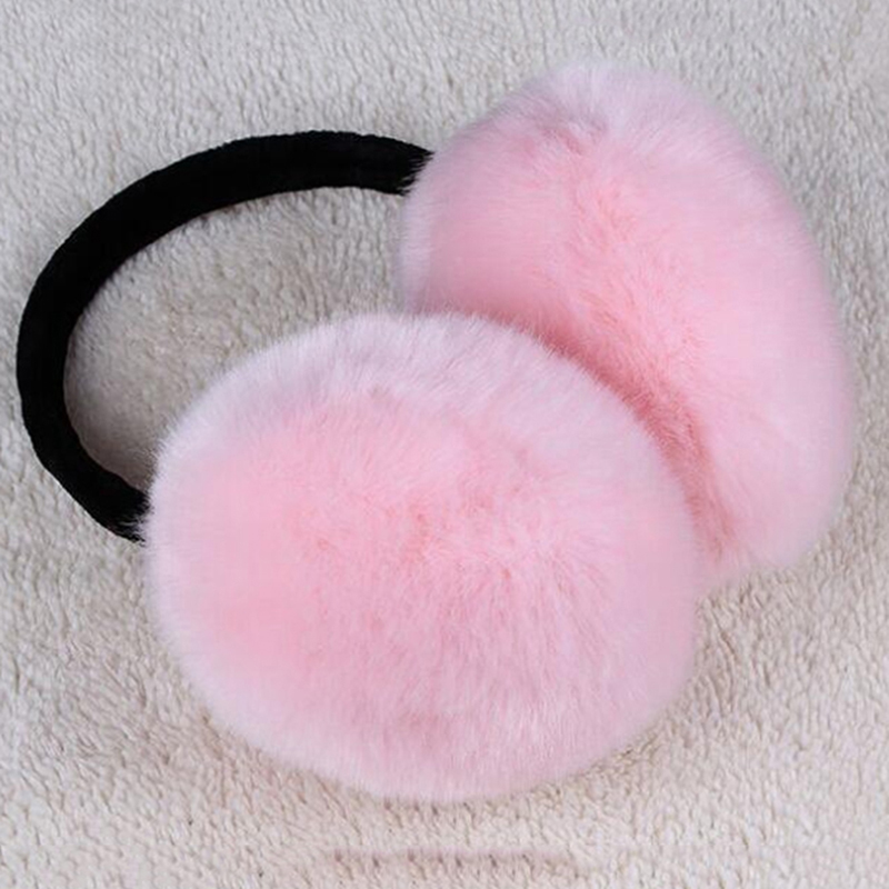 2019 Women Ear Warmers Winter Earmufs Imitation Rabbit Fur Earmuff Girls And Boys Large Plush Ear Warmers Earmuffs
