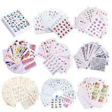 18/30/40 Sheets/sets Nail Water Sticker Flower Flamingo Beauty Slider Bloom Colorful Plant Pattern 3D butterfly Manicure Sticker