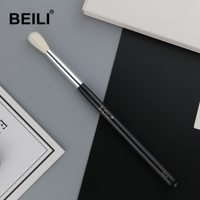 BEILI X04 white Goat Hair mixed Synthetic hair Eye Shadow Blending Single Makeup Brushes Glitter Handle 1