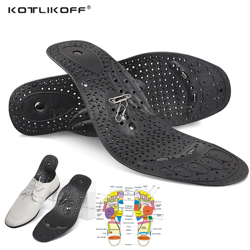KOTLIKOFF Magnetic Massage Insoles Natural Magnet Massage Slimming Weight Loss Relief Shoe Sole Acupuncture Shoe Sole Insert