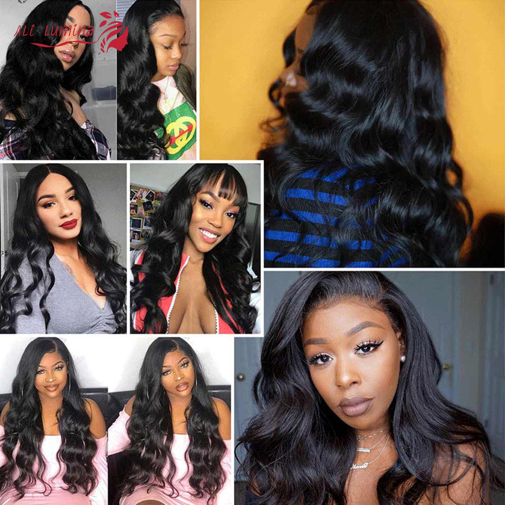 Body Wave 13x4 4x4 Lace Frontal  Closure with Baby Hair  Jet Black Natural Hairline Free Part Lace Closure 6
