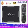 Приставка Смарт-ТВ X96 Max plus, Android 9,0, Amlogic S905X3, 4 + 32/64 ГБ, 8K, 1080P, 2,4 ГГц