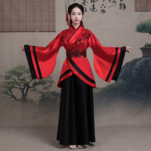 2020 Chinese Traditional Hanfu Dress Classical Ethnic Chinese Folk Dance Costumes Ancient Chinese National Costume Stage Wear(China)