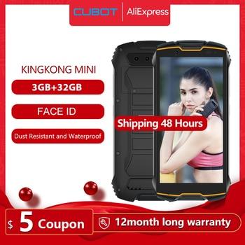 """Cubot KingKong MINI 4"""" QHD+ 18:9 Screen Rugged Phone Waterproof 2000mAh 4G LTE Dual-SIM 3GB+32GB Android 9.0 Rear Camera 13MP"""