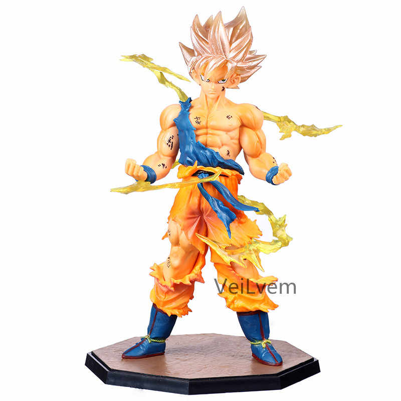 Anime Dragon Ball Z Goku Super Saiyan 1 versão Limitada DBZ Goku PVC Action Figure Collectible Modelo Toy