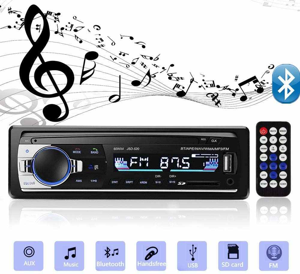 Bluetooth Autoradio Auto Stereo Radio FM Aux Eingang Empfänger SD USB JSD-520 12V In-dash 1 din Auto MP3 Multimedia Player