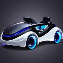 Wissenschaft fiction Kinder elektrische auto vier-rad gürtel fernbedienung baby baby sitzen spielzeug auto Kinder elektrische baby auto