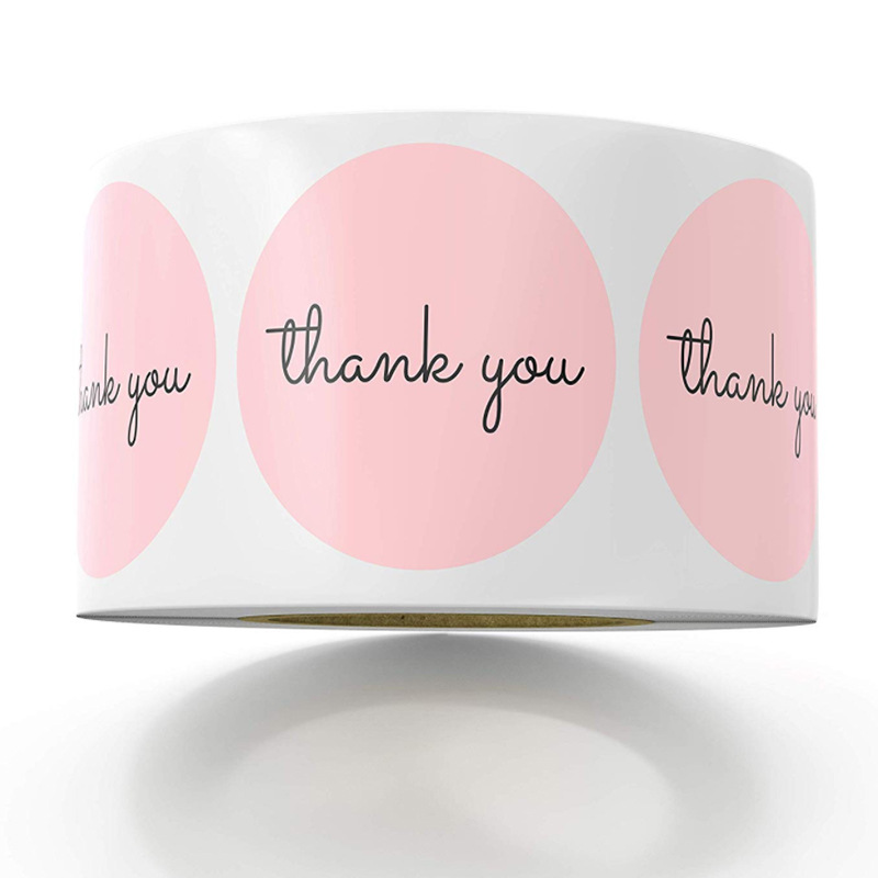 500pcs Thank You Stickers 1inch Pink Stickers For Company Giveaway Wedding Party Favors Labels Mailing Supplies Cute Stickers