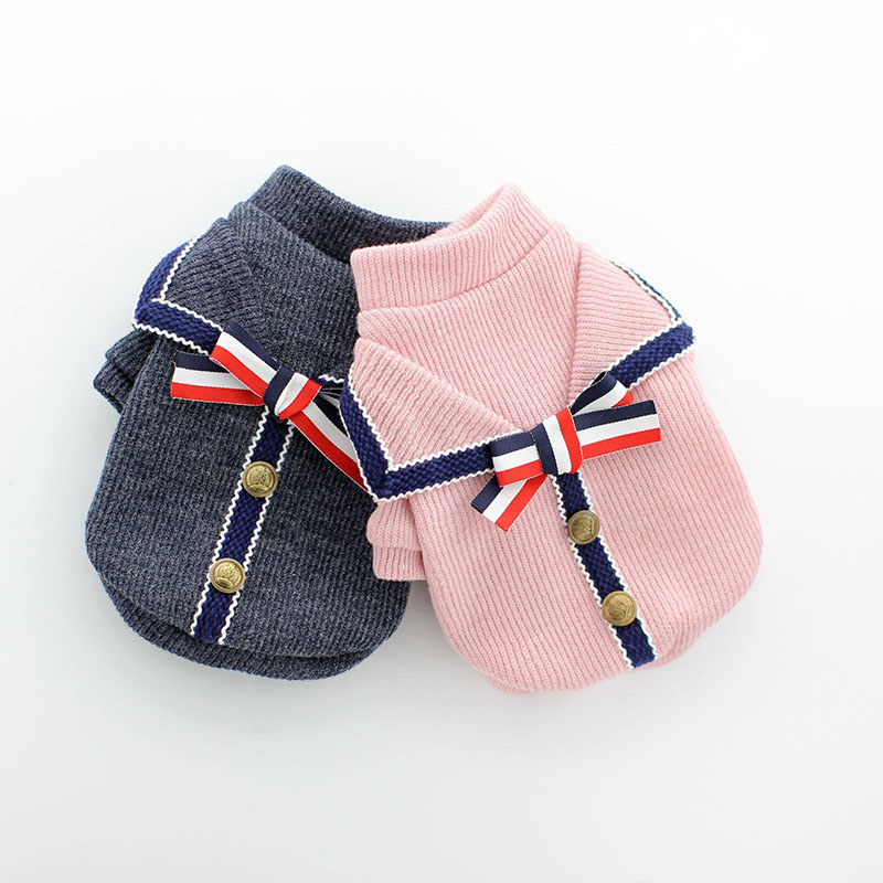 Зимний модный свитер с изображением собачки кота, пуловер, маленький свитер для питомца в стиле колледжа, теплая одежда для щенка, котенка, двухногий костюм для отдыха|Свитера для собак|   | АлиЭкспресс