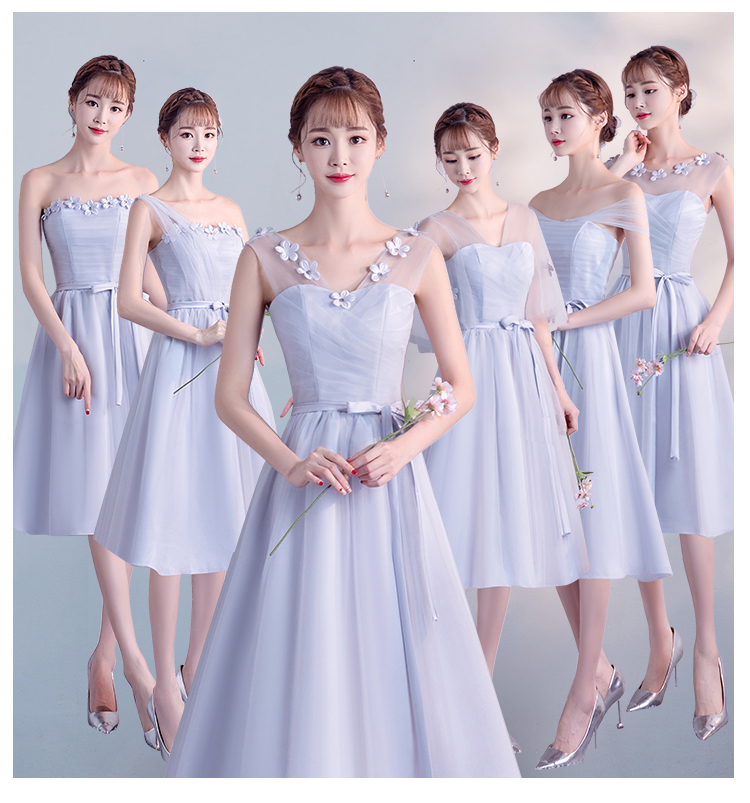 Burgundy Bridesmaid Dresses  Tea Length Dress Guest Wedding Party  Tulle  Tea-Length  Embroidery  Special Occasion Dresses Sexy