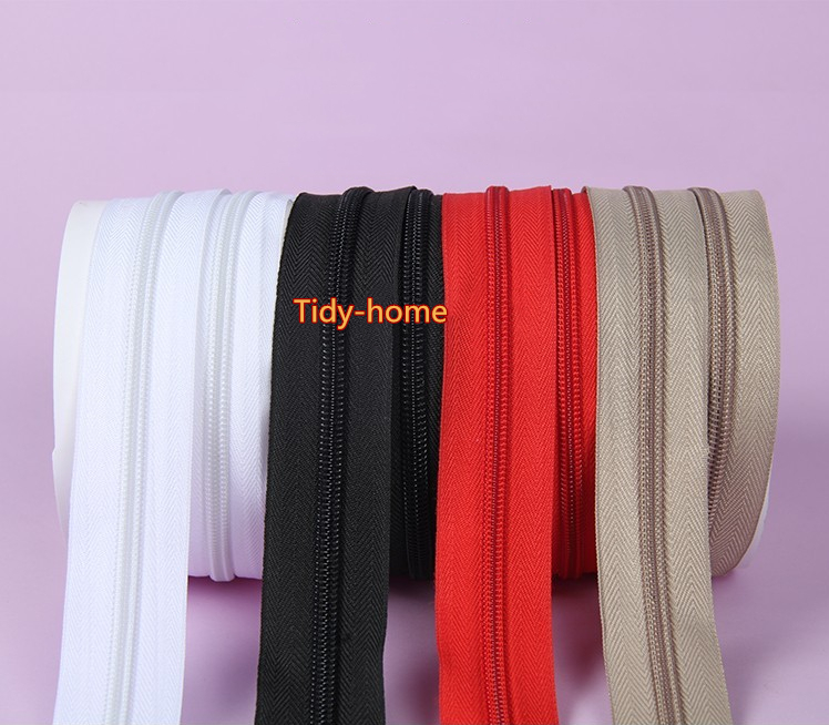 5/10 Meter Strong Nylon Zipper 5# With Zipper Pullers Long Zipper for Quilt Beding Backpack Luggage Bag Home Textile