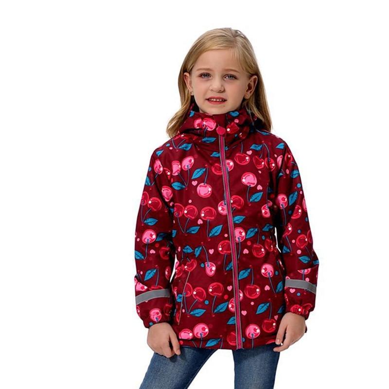 New 2019 spring autumn child kid jackets baby girls windproof waterproof jackets double-deck inner polar fleece